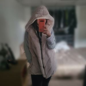 BCBG Faux Fur Hooded Vest